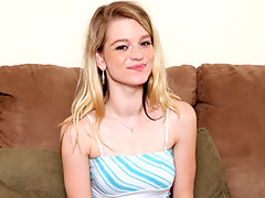 Skinny teen princess masturbates with a mini vibevideo