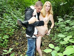 Blonde in park pickup sex movievideo