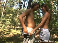 This guy has got a bike that helps him to find a place to stay in private with chicks. Today he rides to a forest with lovely cutie to enjoy all her delights. Witness how this baby gives him a fascinating blowjob outdoors. They fuck and no one can disturb them. Watch this movie for great arousal.video