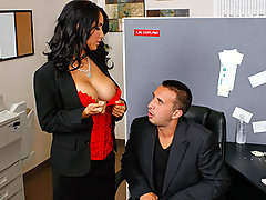 Keiran and his buddy are at work and are curious to know if the new hot girl\'s tits are real. Keiran gathers enough courage to ask her and she is more than willing to show him if they really are fake or real.video