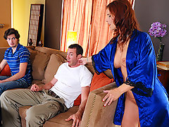 Overworked and undersexed Syren DeMer is one hot MILF. As her son and his friend take it easy, she spends the day tidying up. When finished her chores, however, Syren knows just how to relax, taking a hot bath in the middle of the afternoon. But when Jordan, her son's friend, wanders in and spies on the sultry temptress, Syren exacts a revenge which, in this case, is best served HOT!video