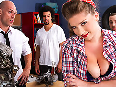 None of the guys in Auto Shop class can handle how well Alex Chance knows cars. But she turns the tables on those losers and impresses everyone, including the teacher Mr. Sins. He finds his new student so fucking hot he keeps her after class to get to know her a little better.video