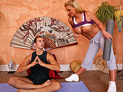 Phoenix is on the road to enlightenment when she enrolls in a yoga class with Yoga Master Voodoo. He\'ll show her the basic steps in replenishing your soul and getting in better touch with your body... In other words he\'ll replenish his cock and get in better touch with her huge round titties...video