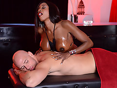 Johnny is looking for a certain kind of massage, and he has the money to pick the finest lady in the club. Miss Diamond Jackson is ready to give Johnny the rubdown he's been dreaming of, but Johnny's got some deep massage in store for her too...video