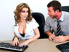 Courtney is a motivated worker who believes her commitment and efforts will keep her employed at the company for long time. Her co-worker, Jordan, believes they are on the verge of being fired. As Jordan slowly convinces Courtney that their days at the company are numbered, their fear also escalates and motivates them both towards a sexual encounter in the office before it's too late for them...video