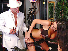 Kortney is going undercover to get info on the big pimp-on-the-streets, Johnny Sins! Dressed up sexy, she pays him a visit and lures him into sex to get the inside digs.video