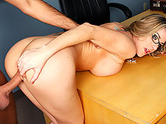 Kayla is supervising and she\'s clearly in a down mood and Keiran notices. He decides to take advantage of the situation and gets Kayla to open up and tell him that she\'s splitting up with her boyfriend. Keiran showers convinces her that the best revenge is to show him what he\'s missing. Kayla likes the idea so much that she pulls Keiran in and really starts to get naughty.video