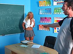 Phoenix knows she\\\'s gonna flunk Mr. Lagina\\\'s class so she sneaks into the classroom and finds his grades folder. As she\\\'s changing her score on the final exam, fellow student and official stalker Jordan Ash catches her on the act. She won\\\'t only have to change his grades to get out of this one!!!video