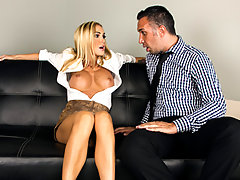 Keiran thinks he is in trouble at the office after he sees his co-worker Devon stripping the night before, but she is not only ok with it, it turns her on! It doesn't take much coaxing to get Keiran into a private office after everyone leaves so she can get busy on his cock.video
