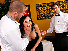 Scott Nails has owned a restaurant for a little while now and always gets the same food critic for some reason. She has never given him a good review and she's back again tonight. After sending back dish after dish without reason, Scott Nails has finally reached his breaking point. He and James Deen decide to storm out to give her a meal that she can't refuse!video