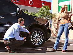 Shyla was looking for a good deal on a new car, so she called up a friend and asked to see where she could get the best deal. Brazzers auto dealer was the place. She went down and met with CS, Mr. Chris Strokes. She heard through her friend that he was a BIG shot car salesman and that he could give her  a great deal , but only if she met him halfway...video