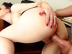 Jordan is down visiting his mother so she takes him to her work and shows him around. When he meets her sexy boss she immediately takes a liking to him. The boss quickly finds tasks for Jordan's mother so she can have him all to herself.video