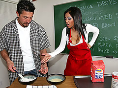 Tommy is taking a night course on cooking to impress the ladies but realizes he isn't that good. His sweets taste sour and his cakes are hard as rocks! Luckily, Priya is an expert when it comes to sweets. Sweet treats, sweet pussy, sweet ass and most of...sweet titties!!!!video