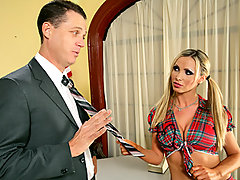 Nikki Benz was pretty upset to catch her boyfriend getting head from a freshman chick  in an alleyway. But she knew who to confide in , Professor Blow.He knows how to handle situations like this and you can see it. Within minutes she was fucking him like she always wanted it. Well Nikki's boyfriend walked in on them, but hey, what do they say about bad karma?video