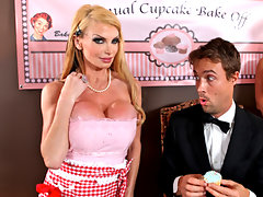 Taylor enters a cup cake contest every year only to be beat by that bitch of a cunt Allison. Although Allison has the better cup cakes, Taylor has the better feeding techniques. Like putting the cup cakes between her big juicy tits, and letting the judge Richie eat right off of them.video