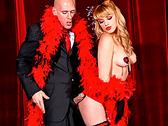 Johnny goes to a burlesque show to see the seductive, Lexi Belle. She comes out and wows the audience with her tassel tits, but then Johnny wows her with his big cock. She can\'t resist and so she must have his dick inside her.video