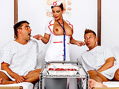 Patients Bill Bailey and Toni Ribas are sharing a hospital room after getting themselves into some horndog-related accidents. A nurse is coming to take good care of them, and both are hoping it will be hot Miss Foxxx from the day before. The boys get their wish, as well a sponge both none of them will soon forget.video