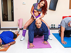 Monique Alexander runs an intense fitness program, the only kind of fat she wants to see is a fat cock like Johnny's. After eight long weeks of her training plan, she can turn any slob into a fit stud. The best part? She's offering up a piece of pussy to whoever loses the most weight!video