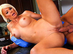 Rhylee has a serious problem. She hasn't been fucked by her asshole husband in months. Today is her lucky day however, because Keiran Lee is coming over for dinner. What's on the menu? A little spaghetti, and a whole lot of pussy.video