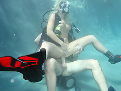 Angelina needs scuba diving lessons to get certified  before heading out on a trip with some friends to Hawaii. Scott teaches her all she needs to know before he peels her back under water.video