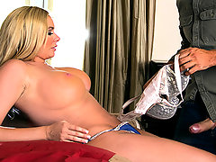 Briana Banks discusses with her husband how she should perform solo porn for money. Keiran Lee, hiring manager at Brazzers, convinces her that there is a lot more money to be made if she goes hardcore!video