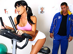 Gia Dimarco has been training her butt off. She's going to attempt to run a marathon, and she knows that she has to be in top shape. Luckily for her Danny Mountain is one motivated coach. He'll do whatever it takes to get her ready, and if that means having to eat her ass, than so be it.video