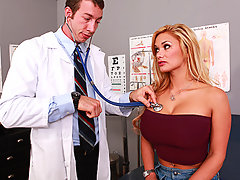 Shyla is visiting Doctor Ash due to her loss of sensitivity in her pussy. She explains that she over used her huge vibrator, so Dr. Ash does a few tests to see if he can stimulate her clit. Nothing works, so he decides to go for a more advanced treatment; sink his big dick in Shyla's tight asshole.video