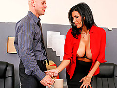 Shay's boss is serious when he says he'll fire her if she doesn't find cream for his coffee. Shay scurries around the office, desperately looking for some cream, as there is none left in the cafeteria fridge. Luckily for Shay, her co-worker always has her back and gives her some cream but from his cock.video