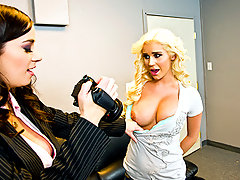 Taylor  is a fake casting agent who takes advantage of young girls looking to get into the modeling industry. Today\'s victim: Spencer. After a quick, bogus interview, Taylor convinces Spencer to get naked in her office. At first Spencers hesitant, but her desire to be famous is so strong she\'s willing to do everything, even if means eating pussy and getting fucked by a huge dildo.video