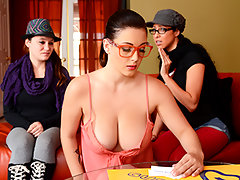 Even though she\'s never played it before, Noelle\'s about to discover she\'s a natural genius at charades. She\'s playing so well, it\'s making the bitches Danny invited over to chill super jealous. Using her big natural boobs to help her act out every round has given her team a massive advantage. So what if those envious skanks can\'t handle it and storm off. Noelle\'s getting exactly what she wants, a private party with her roommate\'s fat cock in her sweet sweet pussy.video