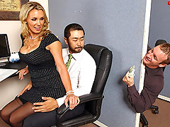 Tanya is in love with her co-worker Pete and tries to hook up with him every chance she gets. The only problem is TJ, the cock blocker of the office will never let him have her.video