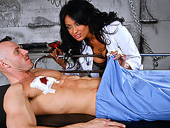 Anissa Kate is a doctor with a limitless cock craving. When Johnny is dropped off at the hospital with a bullet wound, she doesn\'t see a new patient, she sees an opportunity for dick riding. Rather than following protocol and reporting Johnny to the authorities, Dr. Kate takes him to the hospital basement, where she can slide his criminal cock into her wet pussy away from the prying eyes of the hospital staff.video