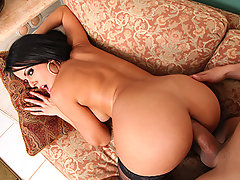 Diamond is a hot chick who is trying to use her beautiful ass to make her fortune. She has created a big ass webcast. While in the middle of shooting a webcast in her bedroom, she is interrupted by her landlord, Cris. Apparently, she is behind on her rent and her landlord has decided to take some collateral until he gets paid. In order to keep him from taking her camera and laptop, Diamond has to offer Cris her most precious asset: her ass.video