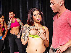 Daisy is trying hard to get her Zumba class as an approved program at the local gym. Johnny has come to view her and her assistants work it out. Will Daisy get the class or will Johnny just give it to her?video