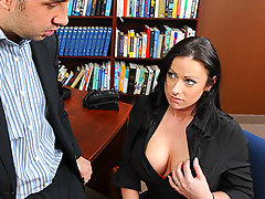 Moxxie just started a new job and her boss is already on her case. The only thing is he is not on her case about her work, but about how un-slutty she is around the office. After her first warning she shapes up really fast and learns that being a whore gets a girl really far.video