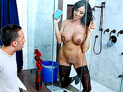 Time for a good ol' spring cleaning. Keiran's house is a bloody mess, and it could sure use a woman's touch. Lucky for him, Ariella runs a nude cleaning lady service. After spending half the day cleaning his house, this sexy cleaning lady is craving some big penis. She cleaned up just so she could get down and dirty.video