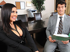 Eva lands a job working for a sales company! But she has a problem coming to work and wearing her panties. After accidentally flashing the office, and watching her masturbate during a sales meeting, her boss, Ramon, decides to have a little chat with his new sales rep...video