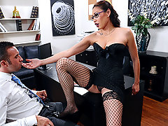 Miko Lee is one strong and confident entrepreneur. When seemingly qualified Keiran Lee walks into the office for an interview, she didn\\\'t expect he would scream about her big tits in her face. After all, honesty is a great value. She decides to prolong the interview, if only he can fuck her real good.video