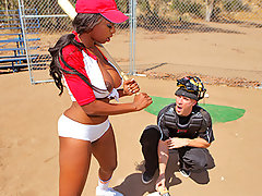 There is an intense baseball game going on today at brazzers feild and guess who is next up to bat. The beautifully stunning Codi Bryant brings a lot to the plate folks, they say that her rack can handle any pitch. We'll there ya have it I guess everything you hear isn't true Codi took that pitch right in the tits and she is out for the count. Luckily Johnny Sins the catcher is a certified medical doctor, so Codi has nothing to worry about, except getting fucked really hard for a half our or so.video