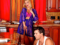 "Brenda is in a pickle. She thinks that her sons best friend is one handsome mother fucker, but she can\\'t seem to get his attention. Brenda decides to \""break\\\"" a couple things around the house so Ramon will have to help her out. It\\\'s not the cabinets that need fixing however, it\\\'s Brenda\\\'s insatiable need for cock.video"