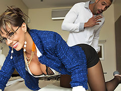 Realtor Esperanza has been waiting for someone to visit her open house all day, and she's getting bored. When Carlo shows up, she's willing to do absolutely anything to make a sale, and Carlo sees two big juicy perks that just might sweeten the deal.video