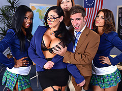 "No one says ""no"" to Ms. Bitoni, the sluttiest teacher in school. When she sets her mind on a young stud, she does whatever it takes to pull him apart from the pack and get a shot at his dick. Poor guy can't focus on answering her questions with her big tits in his face, so he's going to have to stick around after class for ""extra help"".video"