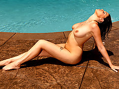 Kick back, soak up some sun poolside, and get ready for a wet ride with Nella Jay.  Let your troubles melt away as you watch Nella rub oil all over her perfect tits, bumps and grinds her booty to the rhythm, and finishes off the day by riding Scott Nails massive cock.video