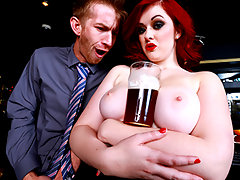 There are bad bosses, and then there's bar manager Danny D, whose workplace behavior is just straight-up inappropriate. It's his style to ignore a qualified candidate in favor of a lusty little wench like Jaye Rose. He wants that slut behind the bar because her huge natural boobs will have the punters lining up to blow all their cash. She's so warm to his advances, that to finish their interview, Danny bends her slutty ass over the bar and gives her the whole of his massive manhood.video