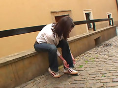 Little Caprice hooks up with some guy at the street and takes him homevideo