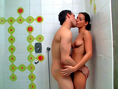 Theres nothing like a morning fuck to make Miroslavas day start great, but since she was in a rush this morning, she had to speed things up and fuck her lover under shower, no time for regular fuckvideo