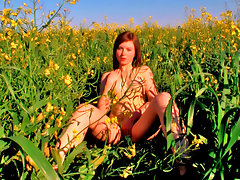 Alka is a stunning teen from Eastern Europe and every bit of her is all natural.  The redhead teen looks right at home in a field as she strips from her little sun dress and masturbates amongst the flowers.  While watching this Teendorf babe touching herself in the most intimate ways, you can see her creamy flesh turning pink with heat and passion.  Alka makes sure to rub every bit of her soft body and budding curves, causing sensations to run through her while tweaking those tiny teen tits and massaging her swollen pink clit.  The redhead teen girl gets right into the flowers and spreads her legs so you can see just how deep she slides her fingers up that delicious teen pussy.video