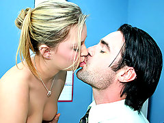 Blonde girl pounded hard on her teachers tablevideo