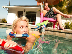 Laying out in the pool, Addison Cain needed to get her lazy, blonde, slutty ass fucked and humiliated. On the inflatable raft, we tied her up and kept her in the pool while fucking any shred of innocence left in this 18 year old whore! One thing this bitch was amazing at was spreading out and getting beyond humiliated....video