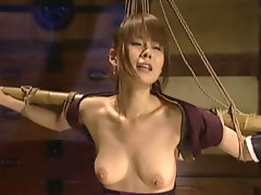 Rin Aoki Megu Ayase and Rin Hayakawa cosplay female ninjas captured tied up and fucked by their captors